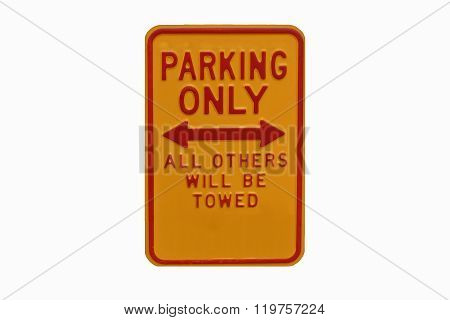 Park Only Sign - Permit Parking