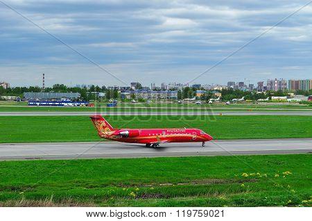 Rusline Airlines Bombardier Canadair Regional Jet Crj-200 Aircraft In Pulkovo International Airport