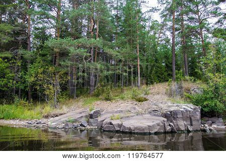 Nature of Valaam, place of monks on Valamo.