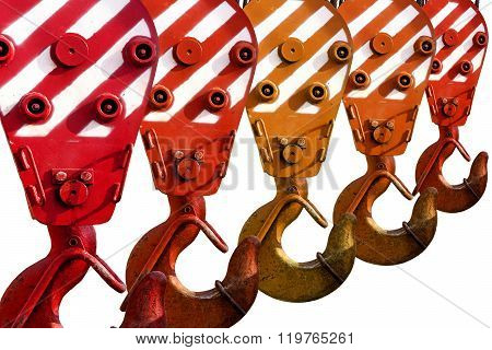 Hooks construction crane