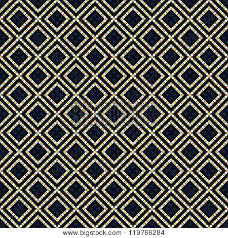 Ethnic Ornament. Seamless pattern. Bead imitation.