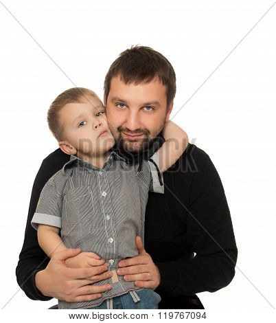 Son hugging dad