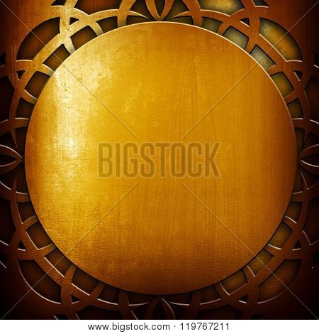 abstract golden metal design background