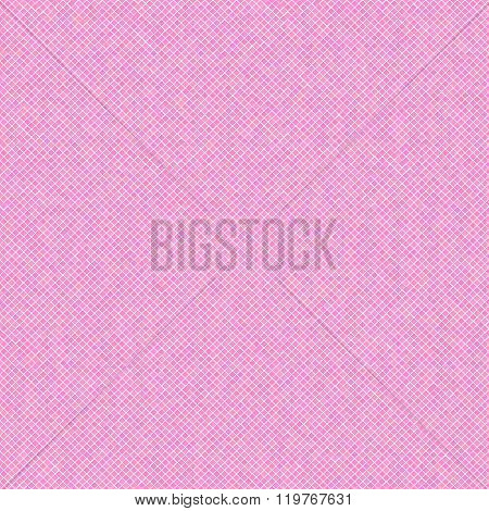 Pixel scatter. Seamless pattern. Pink background.