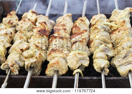 Kebabs On Skewers