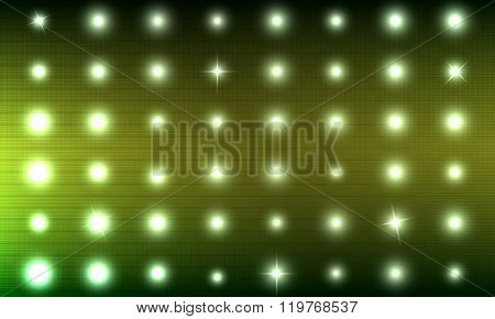 Abstract Background Is Simulating Lights On The Scoreboard