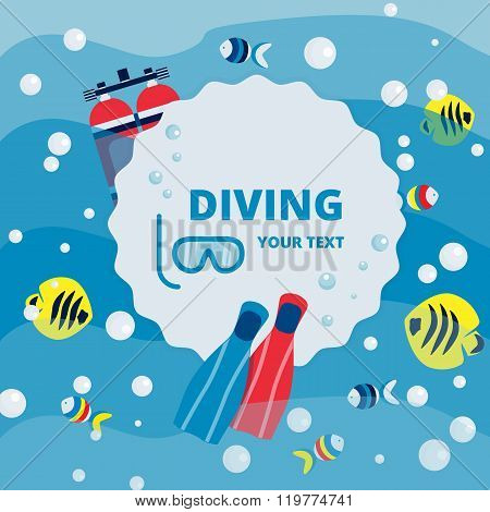 Diving ads concept