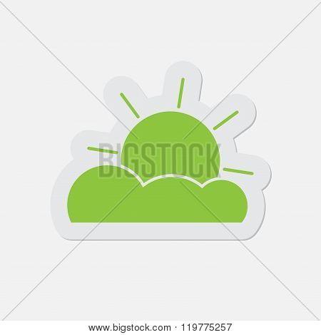 Simple Green Icon - Partly Cloudy