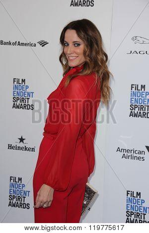LOS ANGELES - FEB 27:  Maria Joao Bastos at the 2016 Film Independent Spirit Awards at the Santa Monica Beach on February 27, 2016 in Santa Monica, CA