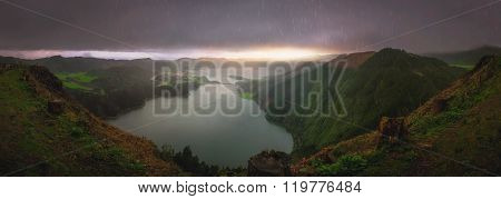 Sete Cidades twin crater lakes