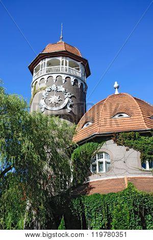 Water Tower - Symbol Of City Svetlogorsk (until 1946 Rauschen). Kaliningrad Oblast, Russia