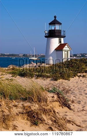 Brant Point Lighthouse On Nantucket Island, Ma