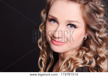 Smiling blonde girl