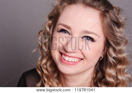 Smiling young girl closeup