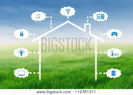 Concept Of Smart Home Technology System