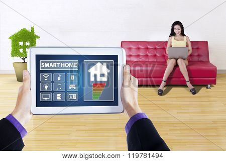 Controller Of Smart House On Tablet