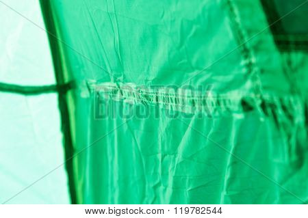 Tent Inside View - Glued Seam.