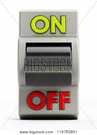 On off button isolated on white background
