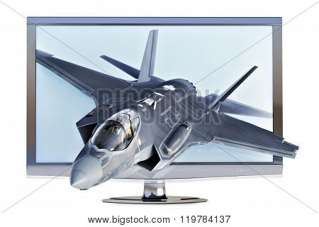 3d TV concept.