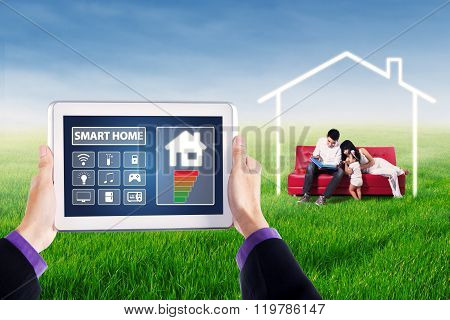 Tablet With Smart Home Controller Applications