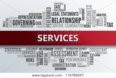 SERVICES | Business Abstract Concept