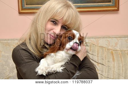 Lady Hugging Cavalier