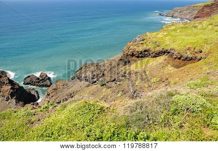 High Cliff Over Ocean