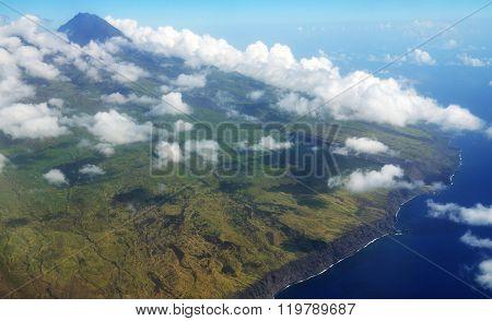White Cloudscape Over Fogo