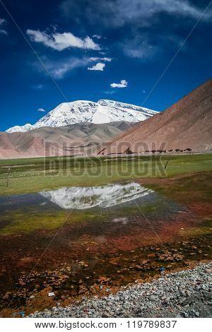 Kara Kul Lake landscape
