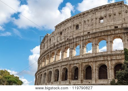 Close Up Colosseum View