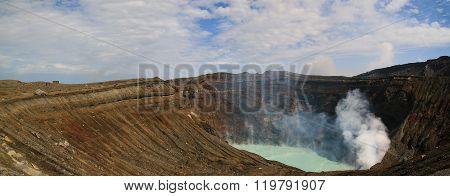 The Active Volcano - Mount Aso