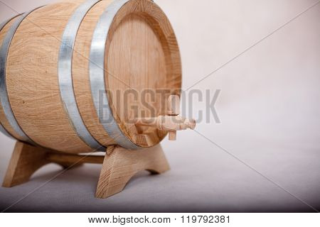 Small Wooden Cask.