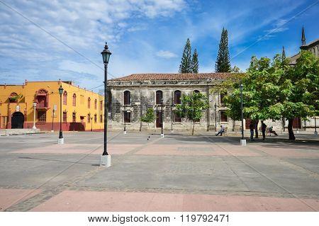The Main Plaza Of Leon, Nicaragua