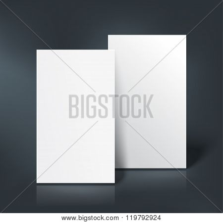 Business cards mockup. Vector illustration