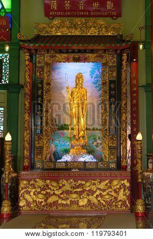 Golden Statue Of Goddess Of Mercy