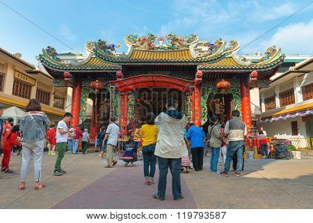 Chinese Temple Of Thian Fan Foundation Shrine In Chinatown