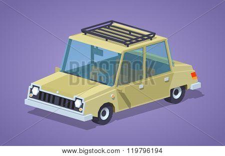 Old beige sedan