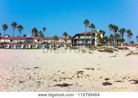 Palms And Sand Around Beach Resort