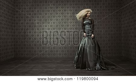Fine art fashion photo of a blond lady