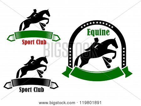 Sporting emblems of equestrian club