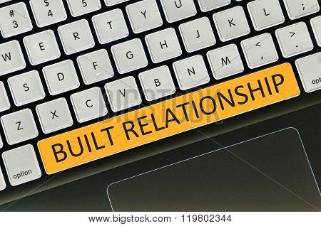 Keyboard Space Bar Button Written Word Built Relationship