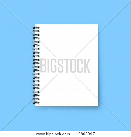 Realistic notebook template. Blank cover design. Mock up notebooks