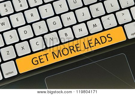 Keyboard  Button Written Word Get More Leads