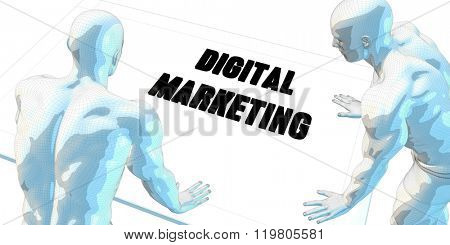 Digital Marketing Discussion and Business Meeting Concept Art