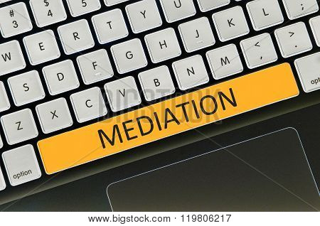Keyboard Space Bar Button Written Word Mediation