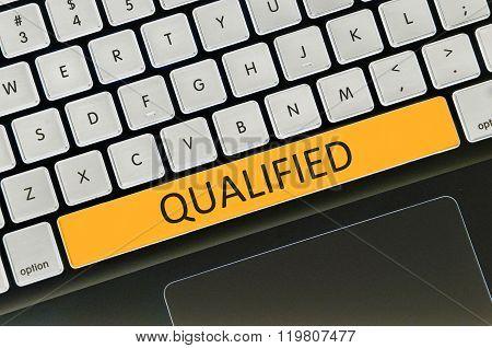 Keyboard Space Bar Button Written Word Qualified