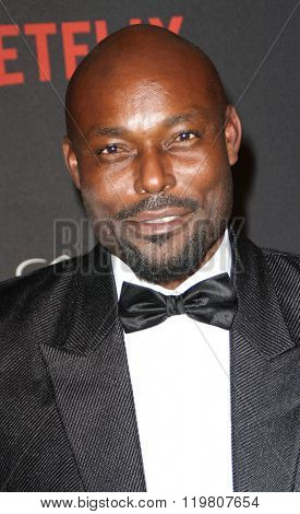 Jimmy Jean Louis arrives at the Weinstein Company and Netflix 2016 Golden Globes After Party on Sunday, January 10, 2016 at the Beverly Hilton Hotel in Beverly Hills, CA.