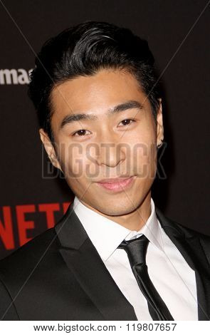Chris Pang arrives at the Weinstein Company and Netflix 2016 Golden Globes After Party on Sunday, January 10, 2016 at the Beverly Hilton Hotel in Beverly Hills, CA.
