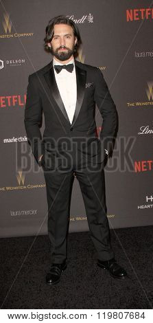 Milo Ventimiglia arrives at the Weinstein Company and Netflix 2016 Golden Globes After Party on Sunday, January 10, 2016 at the Beverly Hilton Hotel in Beverly Hills, CA.