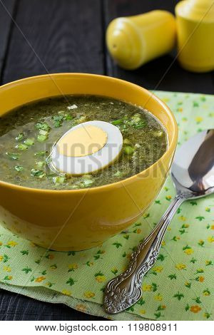 Sorrel Soup With Egg